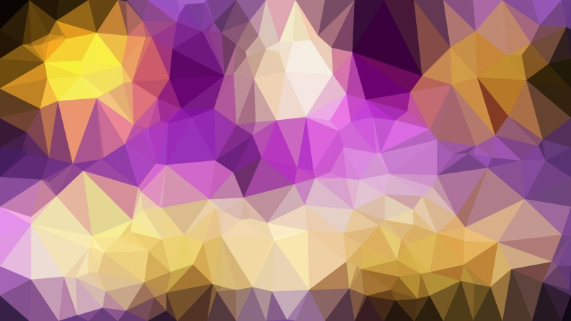 Purple and Gold Polygon Background Template Graphic