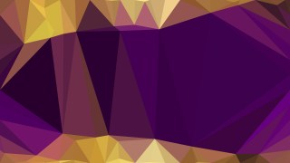 Purple and Gold Low Poly Background Illustration