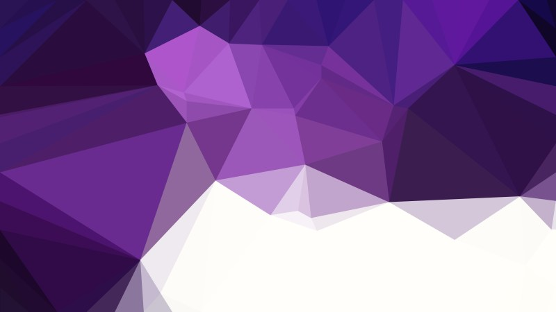 Purple and White Low Poly Background Template