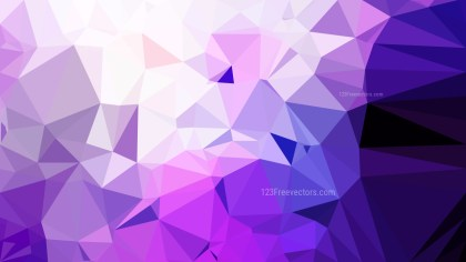 Purple and White Polygonal Triangle Background