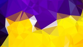 Abstract Purple and Yellow Polygon Background Template