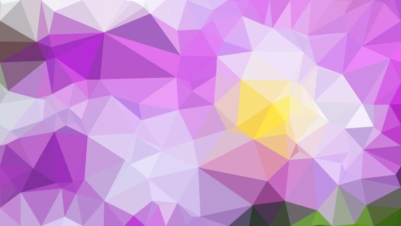 Purple Green and White Polygonal Triangular Background