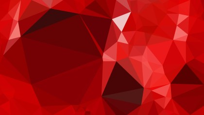 Red Polygonal Background Template Vector Graphic