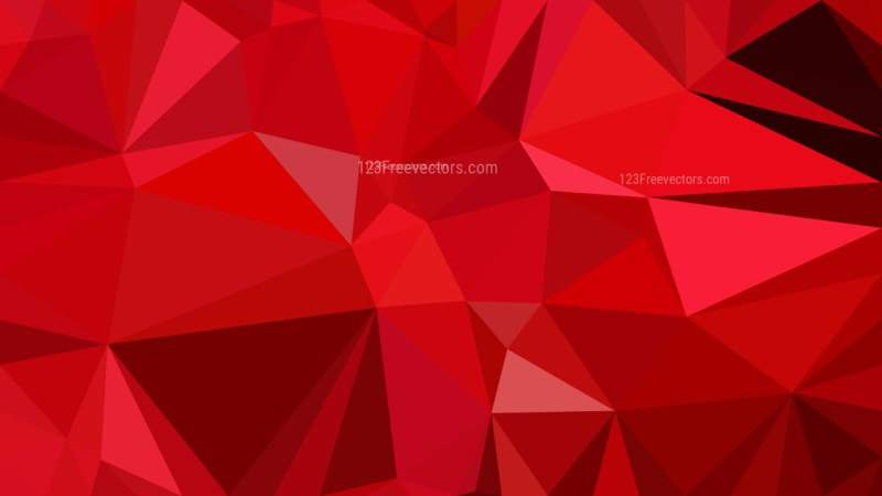 Abstract Red Polygonal Triangular Background Vector Illustration