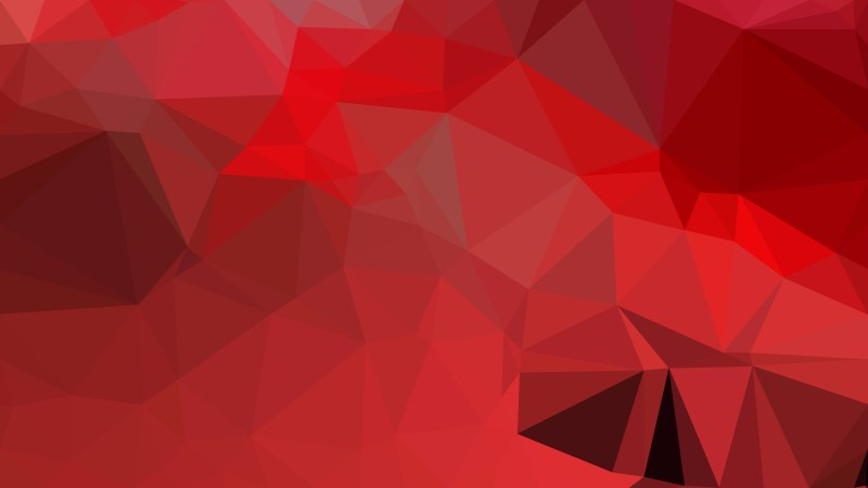Red Polygonal Abstract Background Design Vector Illustration