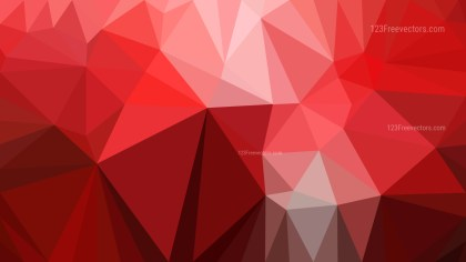 Red Polygon Pattern Abstract Background