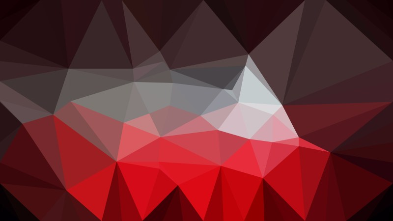 Red and Black Polygonal Triangular Background