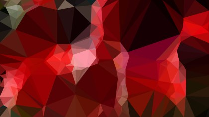 Red and Black Polygonal Triangular Background Vector Illustration