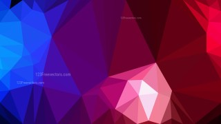 Abstract Red and Blue Polygon Pattern Background Vector Art