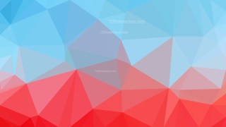 Abstract Red and Blue Polygon Background Graphic Design