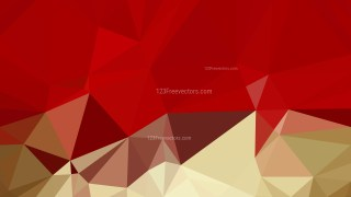 Red and Gold Polygon Pattern Background