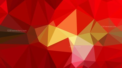 Red and Gold Polygonal Triangular Background