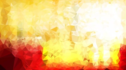 Red and Gold Polygon Pattern Abstract Background Vector Image