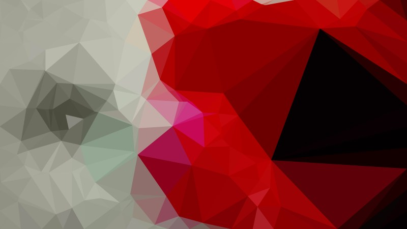Abstract Red and Grey Polygon Background Design Vector