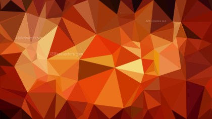Abstract Red and Orange Polygonal Triangular Background