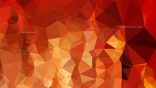 Abstract Red and Orange Low Poly Background Design