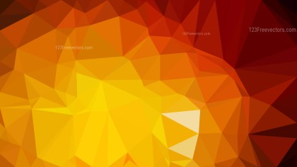 Abstract Red and Orange Polygonal Background Template