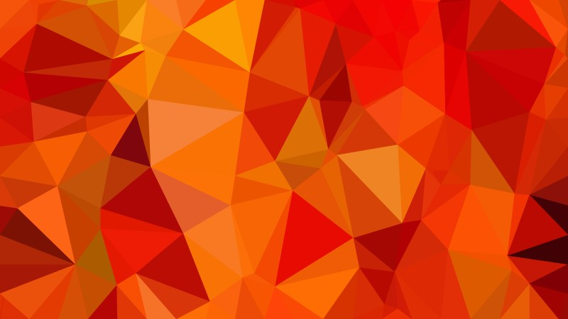Red and Orange Polygon Background Graphic Design Illustration