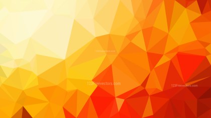 Abstract Red and Orange Polygonal Background Design Vector Illustration