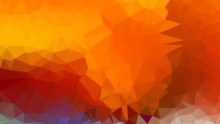 Red and Orange Polygon Triangle Pattern Background Illustration