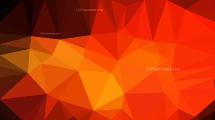 Red and Orange Polygonal Abstract Background Vector Illustration