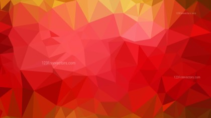 Red and Orange Polygonal Triangle Background