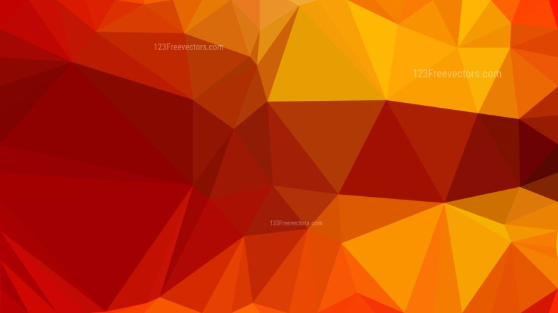 Red and Orange Polygon Triangle Background