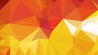 Abstract Red and Orange Low Poly Background