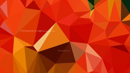 Red and Orange Polygonal Triangular Background Vector Art