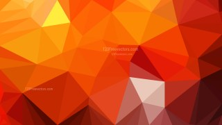 Abstract Red and Orange Polygonal Triangle Background Vector