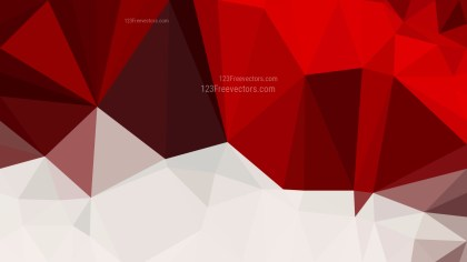 Red and White Polygon Background
