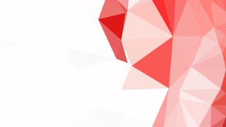 Red and White Polygonal Triangular Background