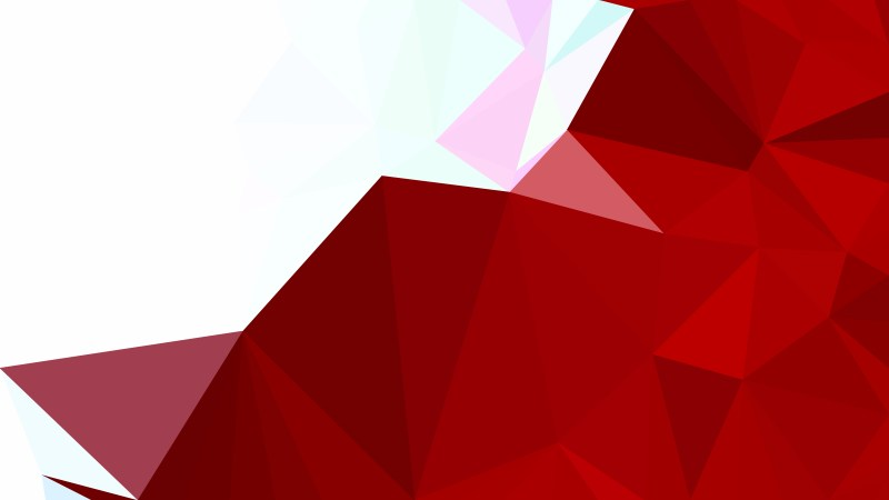 Red and White Low Poly Background Template Design