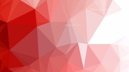 Red and White Polygonal Triangle Background Illustrator