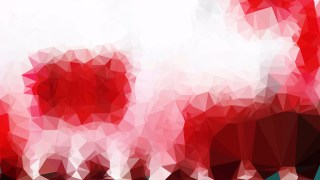 Abstract Red and White Polygon Background Vector