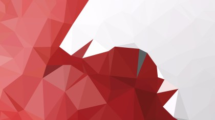 Abstract Red and White Polygon Triangle Background Vector Image