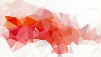 Red and White Low Poly Background Design