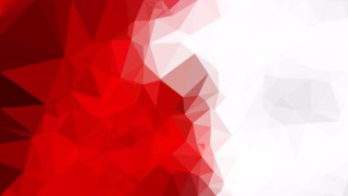 Red and White Low Poly Abstract Background Design