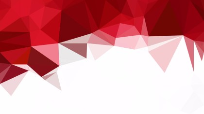 Red and White Polygon Abstract Background