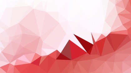 Abstract Red and White Polygon Pattern Background