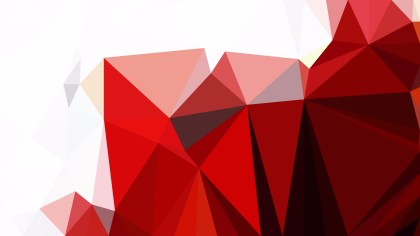 Abstract Red and White Polygon Background Template