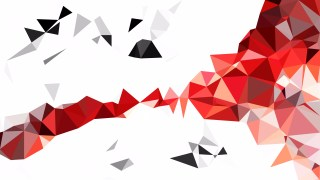 Abstract Red and White Low Poly Background