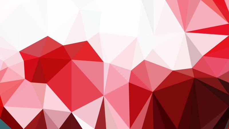 Red and White Polygon Pattern Abstract Background