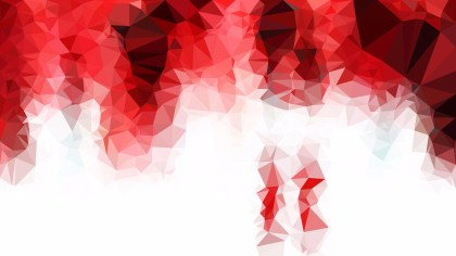 Red and White Low Poly Abstract Background
