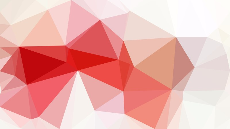 Red and White Polygonal Abstract Background
