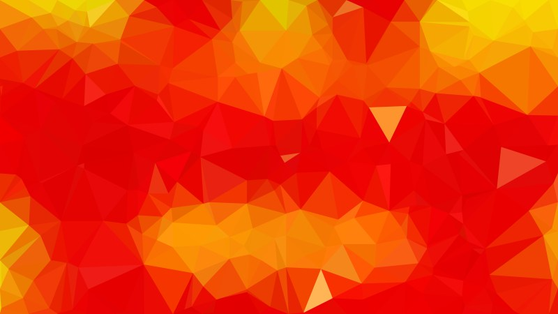 Abstract Red and Yellow Low Poly Background Design