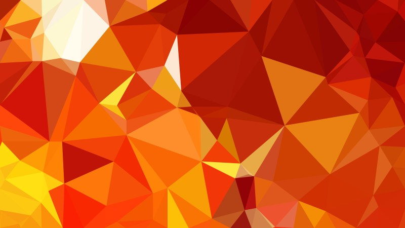 Red and Yellow Polygonal Triangular Background Vector Art