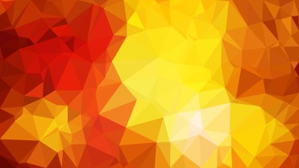 Abstract Red and Yellow Polygon Pattern Background