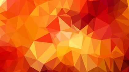 Red and Yellow Low Poly Background Illustration