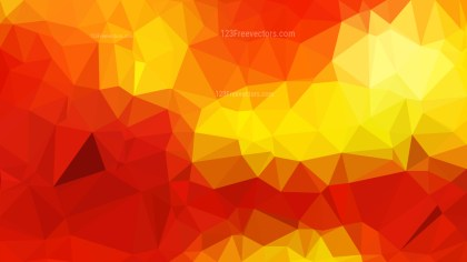 Red and Yellow Polygon Background Graphic Design